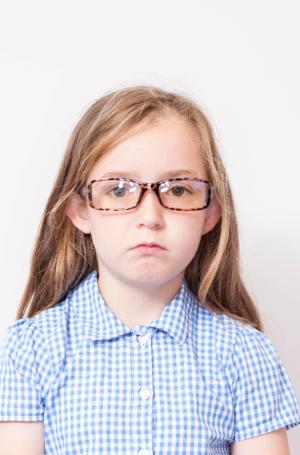 Example of Unacceptable Child Passport Photograph - Facial Features
