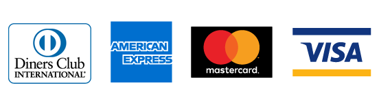 The following cards are accepted - Diners Club International, American Express, Maestro, Visa