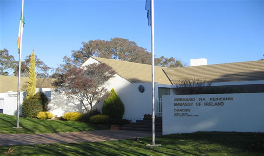 The Embassy of Ireland in Canberra, Australia