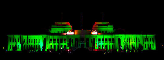 Old Parliament House, Canberra, joins the Global Greening 2014.