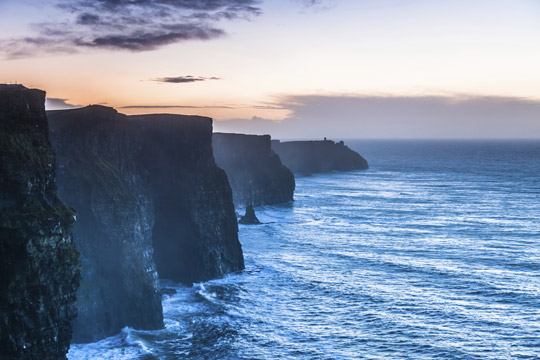 Cliffs of Moher at sunset Co. Clare, Ireland