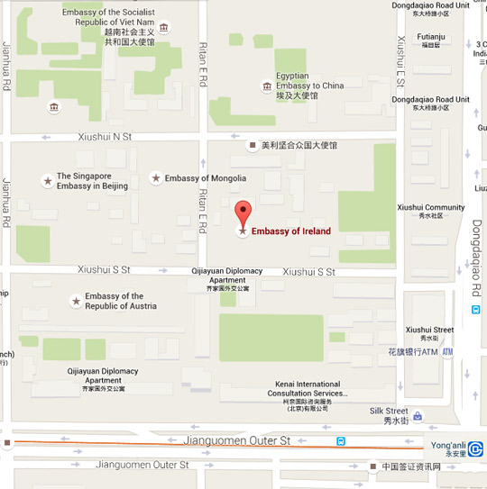 Google map of the Embassy location