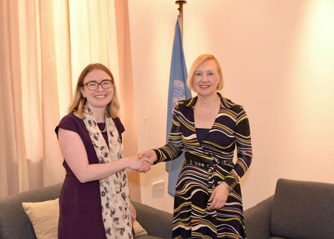 Ambassador Ní Fhallúin calls on Head of UNFICYP, Elisabeth Spehar