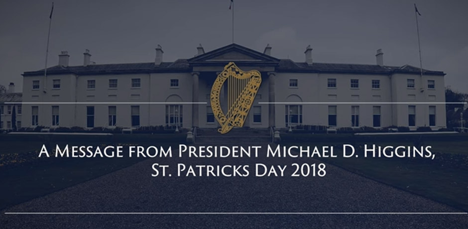2018 St. Patrick's Day Message
