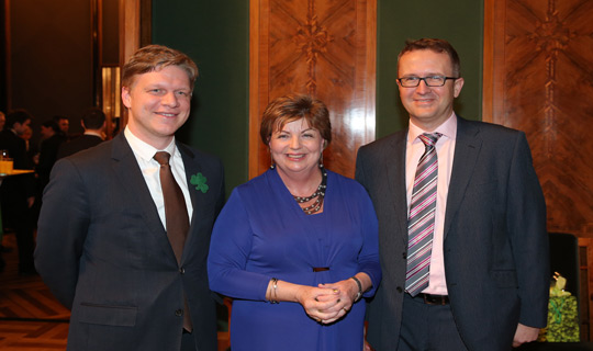 Ambassador Alison Kelly with Tomáš Hudeček, Mayor of Prague and Ladislav Müller, Director of Enterprise Ireland