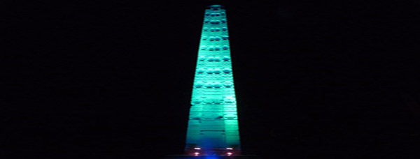The Axum Stelae goes green for St. Patrick's Day