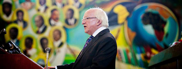 President Higgins delivered the keynote address at the United Nations Economic Commission for Africa. Photo Chris Bellew / Copyright Fennell Photography 2014
