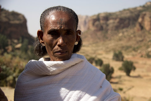 Ms Shefena Kasay, a farmer in Hawzien, Tigray region. Shefena's farm has been changed immensely by Irish Aid supported projects. Photo: Irish Aid.