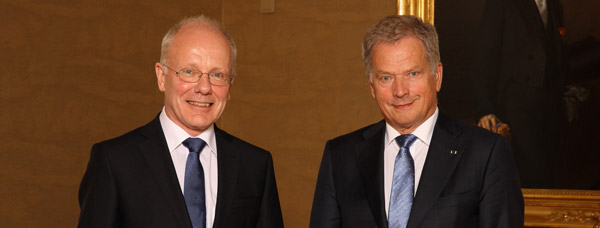Ambassador of Ireland, H.E. Colm Ó Floinn, presented his letters of credence to the President of the Republic of Finland, Sauli Väinämö Niinistö, 3 September 2015