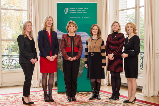Ambassador Nason-Byrne and the representatives of Irish State Agencies