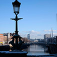 Dublin city from Grattan Bridge