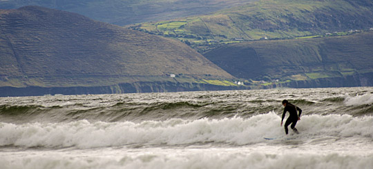Person surfing at Inch Strand Co. Kerry by Jonathan Hession 2005