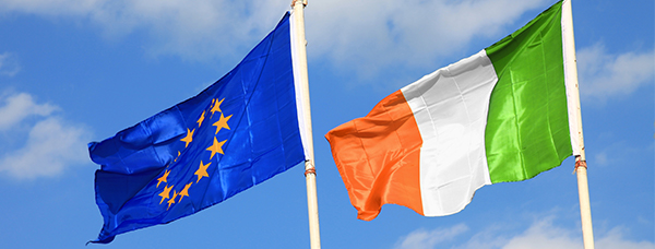 Ireland and EU Flag Banner Image