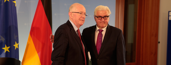 Minister Flanagan with Foreign Minister Steinmeier