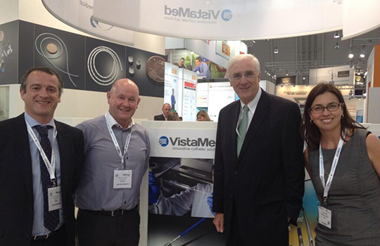 Ambassador Collins meets with  VistaMed at the MedTec Europe trade fair in Stuttgart on 4 June