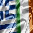 Flags of Greece and Ireland