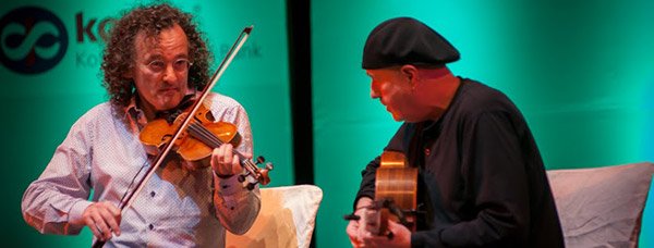 Denis Hayes and Martin Cahill perform at the Indo-Irish Cultural Festival