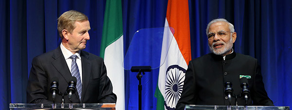 Prime Minister Narendra Modi of India at Government buildings for a press conference with Taoiseach Enda Kenny. PIC: NO FEE, MAXWELLS