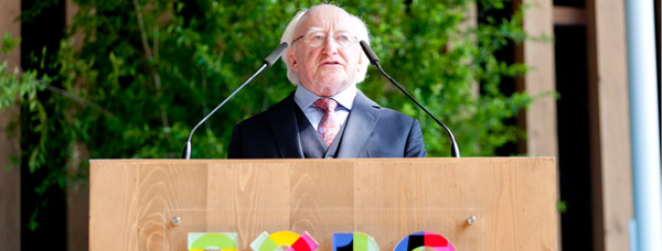 President Higgins officially opened the Irish National Day at EXPO 2015