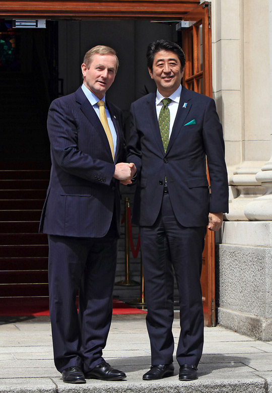 An Taoiseach, Enda Kenny, with Japanese Prime Minister, Shinzo Abe.