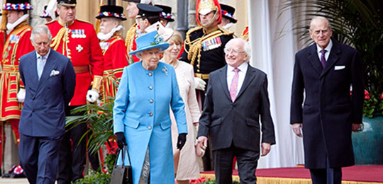 Irish State Visit, President Higgins and The Queen