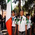 Mexican children with Irish flag