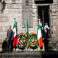 President Higgins and Secretario Meade