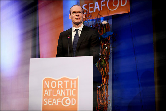 Minister of Agriculture and Fisheries Simon Coveney addressed the North Atlantic Seafood Forum in Bergen on March 14th 2014