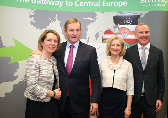 Tara McCarthy, CEO of Bord Bia; Taoiseach Enda Kenny T.D.; Judith Clinton, Bord Bia Regional Manager; and Ambassador Gerard Keown at the opening of the Bord Bia office in Warsaw