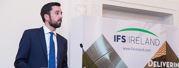 Minister Eoghan Murphy launches the IFS Ireland banner brand in Singapore. Photo by Benny Ng.