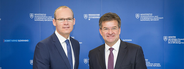 Minister for Foreign Affairs and Trade Simon Coveney T.D. with Minister of Foreign and European Affairs of the Slovak Republic Miroslav Lajcak