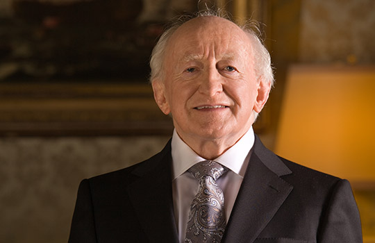 Photograph of President Michael D. Higgins