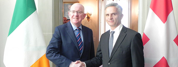 Minister Charlie Flanagan meets with his Swiss counterpart Foreign Minister Didier Burkhalter