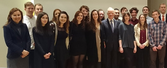 Ambassador hosts reception for Irish students