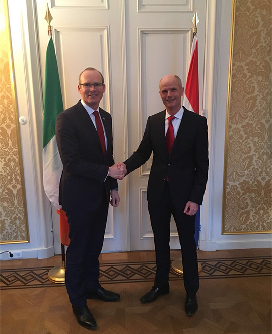 Tánaiste Visits The Hague
