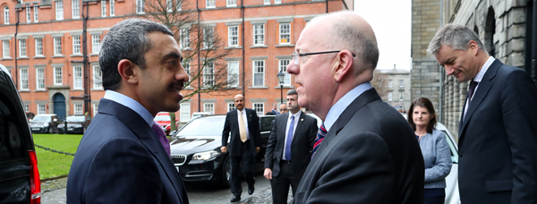 Minister Flanagan and UAE Foreign Minister H.H. Sheikh Abdullah to Ireland