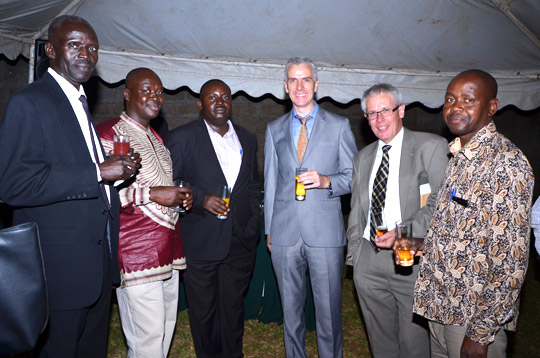 Henry Tumwebaze President UIAA (3rd from left), Ambassador Cronin (4th from left), Frank Kirwan, Head of Corporation (5th from left) and fellows