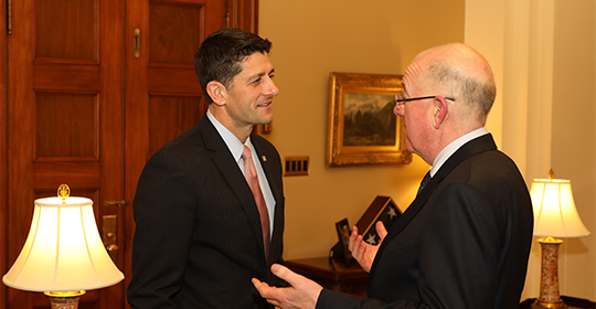 Minister Flanagan with Speaker Paul Ryan
