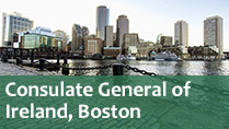 Contact the Consulate General of Ireland, Boston