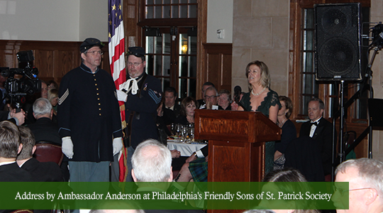 Address by Ambassador Anderson at Philadelphias Friendly Sons of St Patrick Society