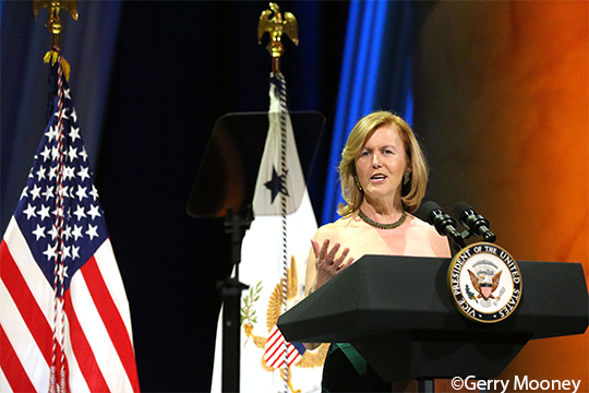 Ambassador Anderson speaking at the American Ireland Fund Gala. Photo Credit: Gerry Mooney