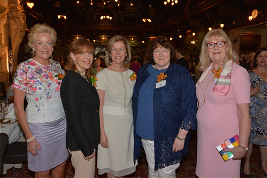 Pictured are five of the honorees at the luncheon: Sharon Sager, Susan Davis, Ambassador Anne Anderson, Ann Kelleher and Marie O'Connor. Photo by Nuala Purcell