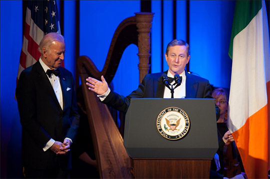 Pictured is Taoiseach Enda Kenny and Vice President Joe Biden.