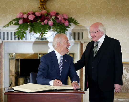 Vice President Biden with President Higgins. Photo Credit: Maxwells Photography