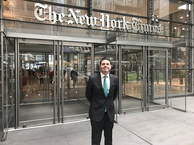 Minister Donohoe at the New York Times