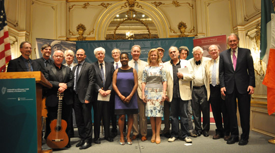 The Embassy held a combined celebration for Yeats Day and Bloomsday