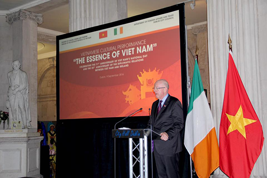 Irish Minister for Foreign Affairs and Trade, Mr Charles Flanagan, T.D. (Photo credit: ICD)