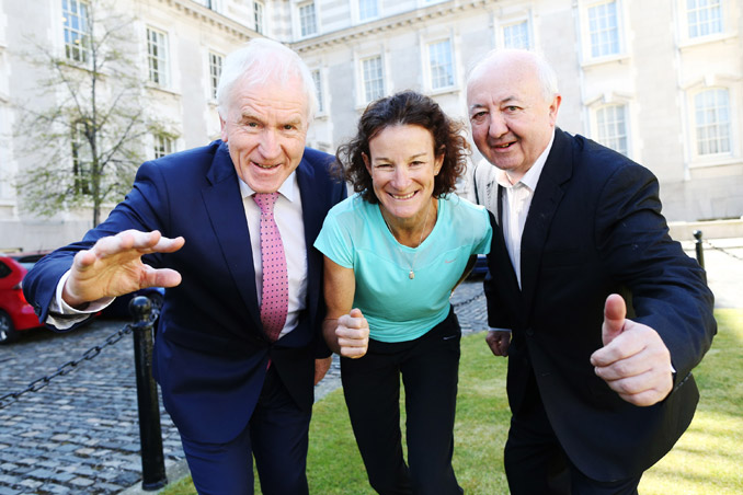 Minister for the Diaspora, Jimmy Deenihan, TD, has joined forces with Sonia O'Sullivan and Frank Greally to invite members of the Irish diaspora home to run the SSE Airtricity Dublin Marathon