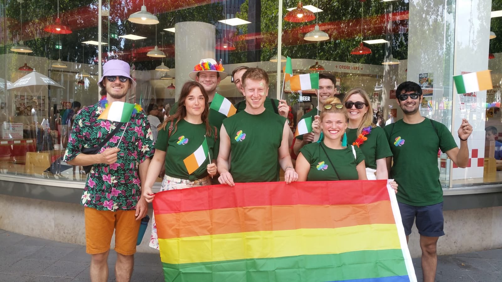 Staff from Ireland's embassy in Germany take part in Pride 2019