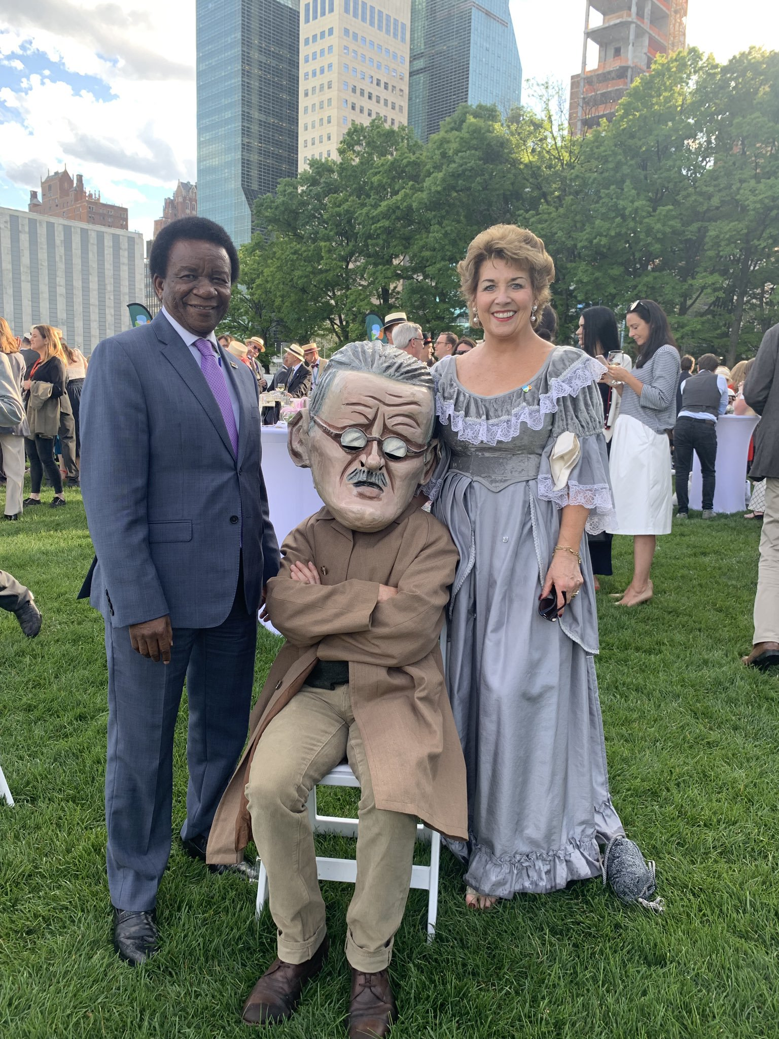 Ambassador Geraldine Byrne Nason takes part in the first Bloomsday festival to be held at the United Nations in New York